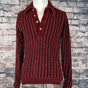Campus Shirts - Vintage Velour Deep V Pullover Fits Small